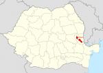 Harta Romaniei - Galati - Tecuci