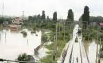 Cale ferata inundata Sendreni
