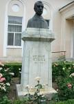 Bustul lui Gherghe Petrascu din centrul Tecuciului
