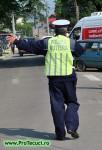 Agent politia rutiera in Tecuci