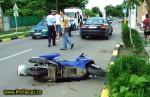 Accident cu motoscuter la Tecuci