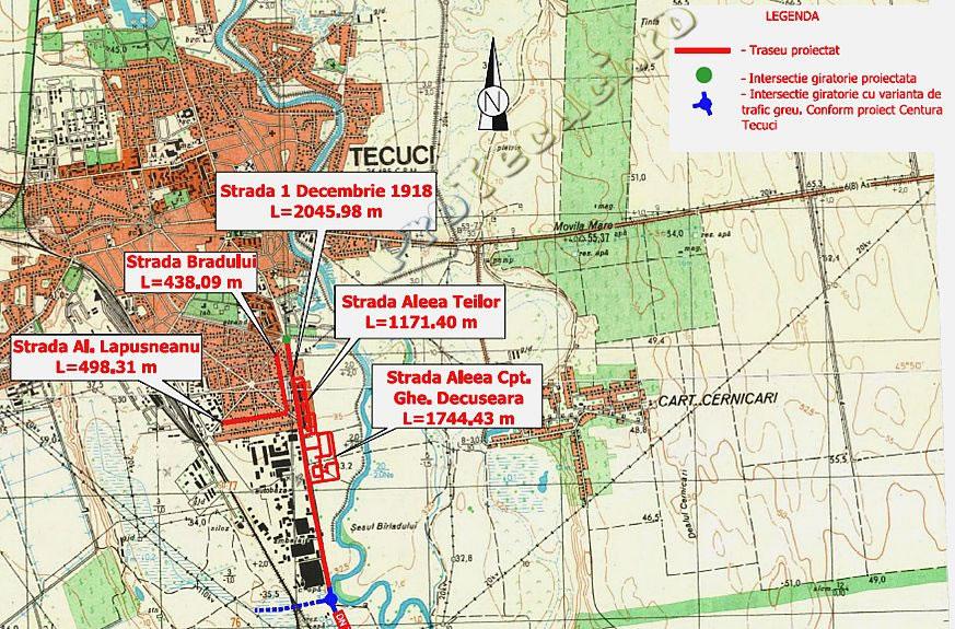 Proiectul  Reabilitarea, modernizarea şi extinderea spaţiilor publice urbane Tecuci