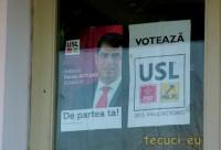 """Campania USL """"începe"""" de la intrarea-n Primărie"""