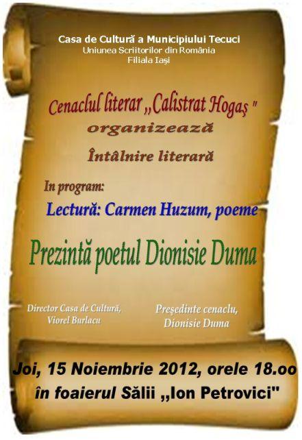 "Cenaclul literar ""Calistrat Hogaş"""