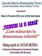 """""""TECUCENI  LA  EI  ACASĂ"""" – cu prof. dr. LUCIAN BEZNEA"""