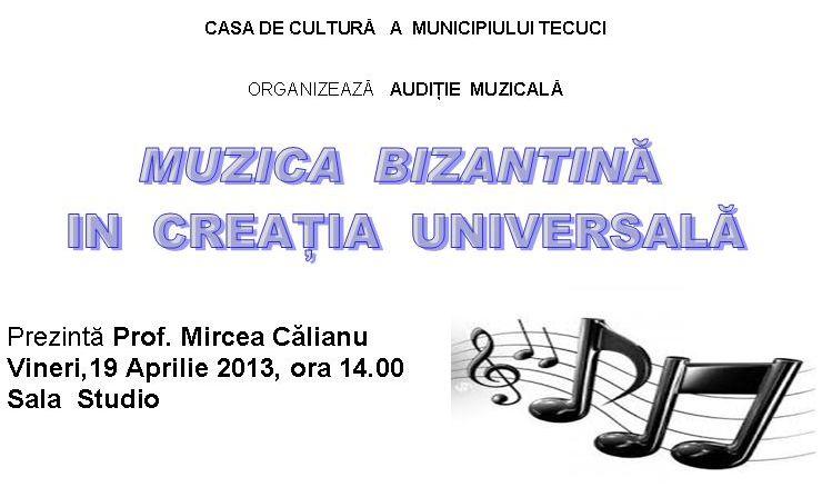 Muzica bizantina tecuci