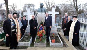 Simpozionul omagial Alexei Mateevicide la Muzeul Naţional de Literatură Chişinău la mormant