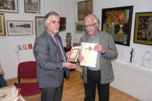 Poetul basarabean Ioan Găină la Tecuci cu Viorel Burlacu