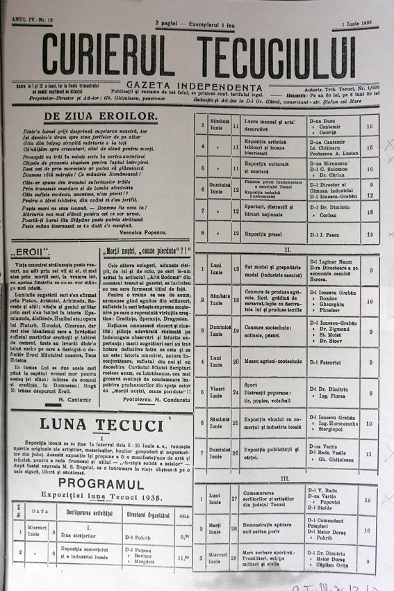 Tecuiul vechi - Ziarul Curierul Tecuciului