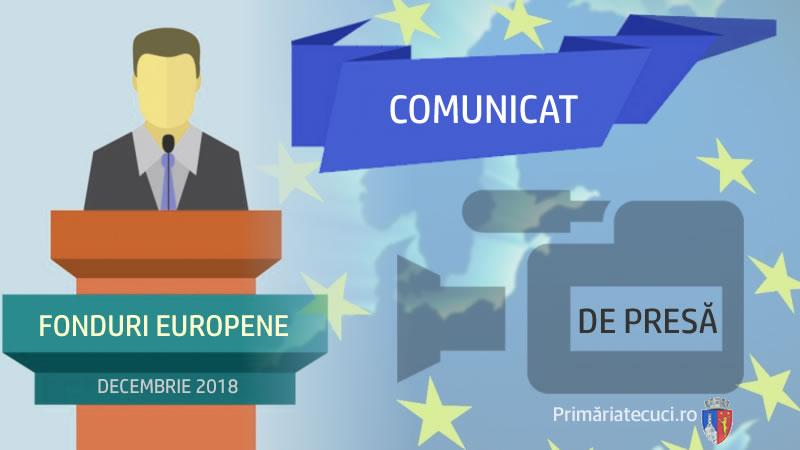 Comunicat de presa fonduri europene -Municipiul Tecuci