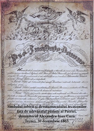 5. Diploma oferita de tecuceni lui Al 2