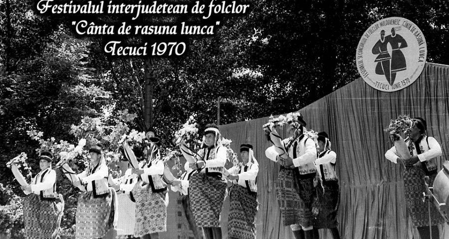 Festivalul interjudețean de folclor Cântă de răsună lunca din anul 1970