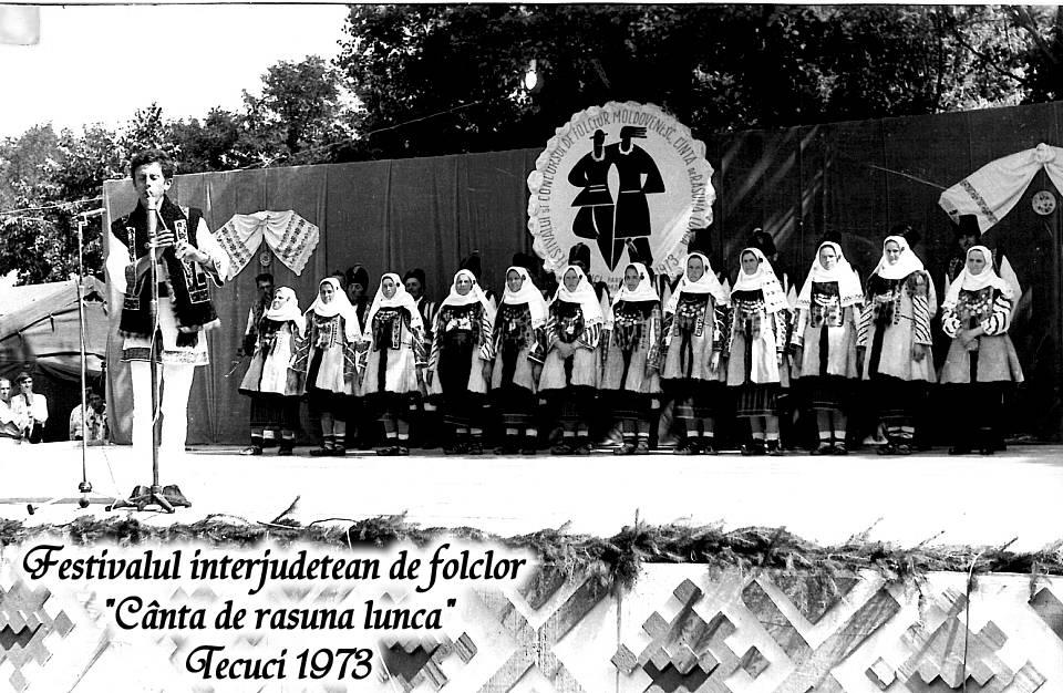 Festivalul interjudețean de folclor Cântă de răsună lunca din anul 1973