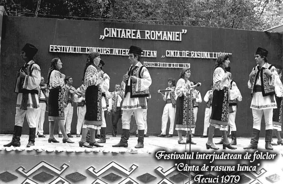 Festivalul interjudețean de folclor Cântă de răsună lunca din anul 1979