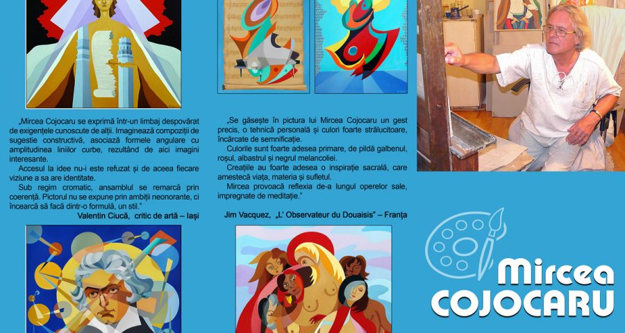 Expoziția de pictură Mircea Cojocaru pliant