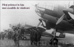 Piloti polonezi in fata bombardierelor